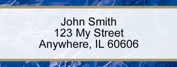 Blue Marble Rectangle Address Label | LRVAL-019