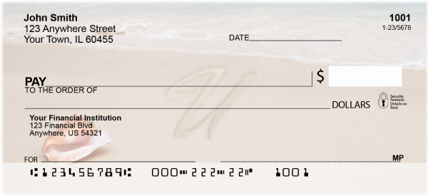 Sand Written Monogram U Personal Checks | MONO-07U