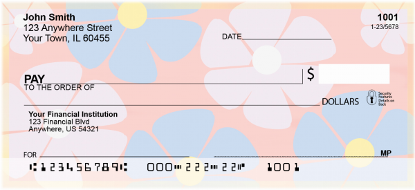 Flower Power Personal Checks | NAT-09