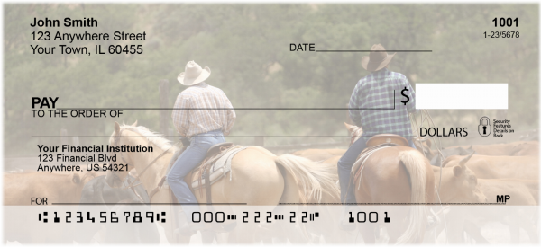Life of a Cowboy Personal Checks | PRO-46
