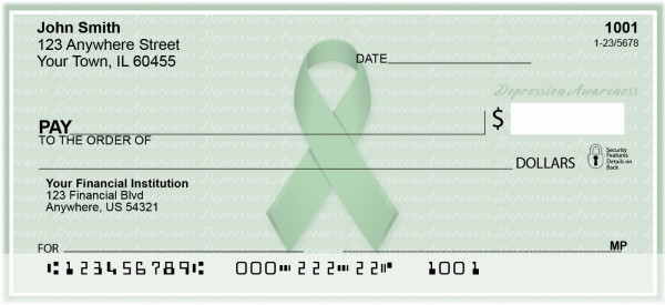 Depression Awareness Ribbon Personal Checks | RIB-12
