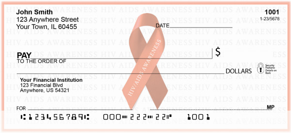HIV/Aids Awareness Red Ribbon Personal Checks | RIB-17