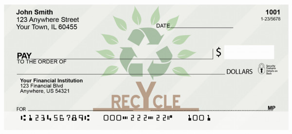 Recycle Tree Personal Checks | RIB-25