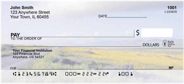 Foothills In Bloom Personal Checks | SCE-17
