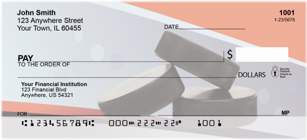Hockey Pucks Personal Checks | SPO-17