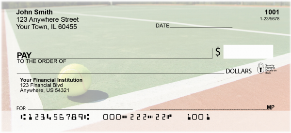 Tennis Sport Personal Checks | SPO-54