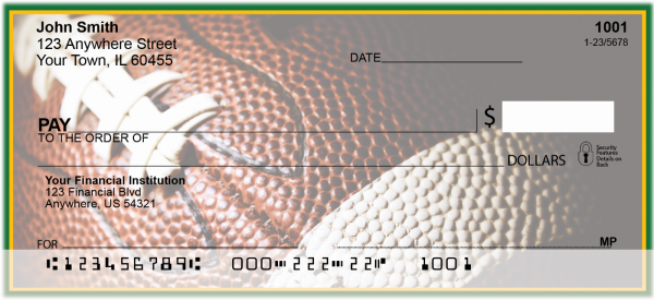 Green & Gold Football Team Personal Checks | SPT-02