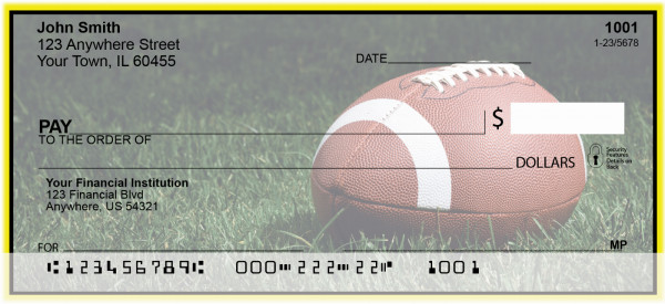Yellow & Black Football Team Personal Checks | SPT-09