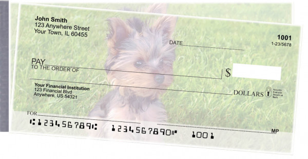 Yorkies Side Tear Personal Checks  | STDOG-57