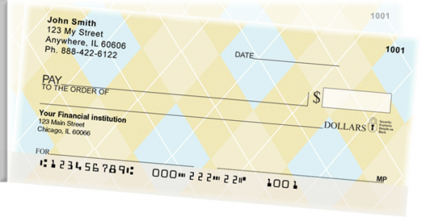 Classic Argyle Side Tear Personal Checks  | STGEO-11