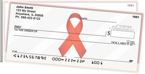 Stroke Awareness Side Tear Personal Checks | STRIB-29