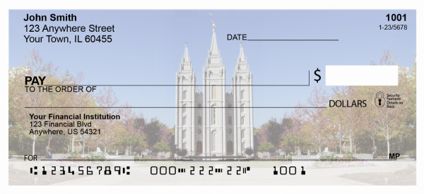 Salt Lake Temple Personal Checks | TEM-14