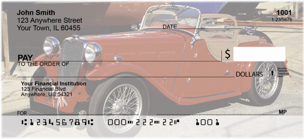 Old Time Convertibles Personal Checks | TRA-45
