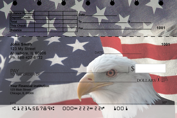 Soaring Over America Top Stub Personal Checks | TSPAT-08